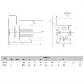Насос поверхностный EUROAQUA WZ 250