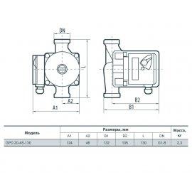 Циркуляционный насос Sprut GPD 20-4S-130 | (Китай)