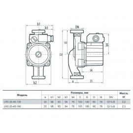 Циркуляционный насос Sprut LRS 25-4S-130 | (Китай)